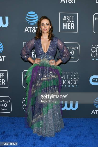 Dina Shihabi at Claire Foy Accepts The #SeeHer Award At The 24th Annual Critics' Choice Awards The Barker Hanger on January 13 2019 in Santa Monica...