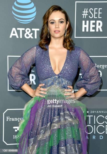 Dina Shihabi attends the 24th annual Critics' Choice Awards at Barker Hangar on January 13 2019 in Santa Monica California