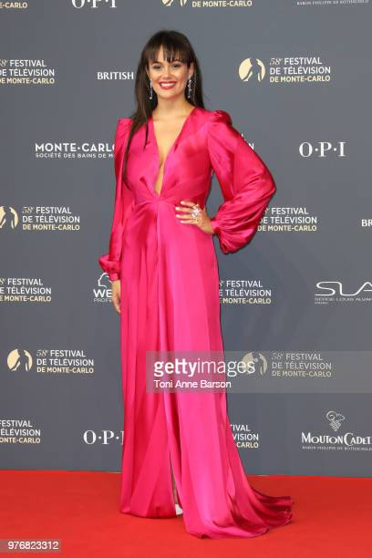 Dina Shihabi attends the opening ceremony of the 58th Monte Carlo TV Festival on June 15 2018 in MonteCarlo Monaco