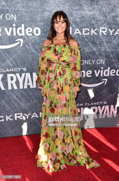 Dina Shihabi attends the premiere of Amazon Prime's of Tom Clancy's Jack Ryan at the Battleship Iowa on August 31 2018 in San Pedro California