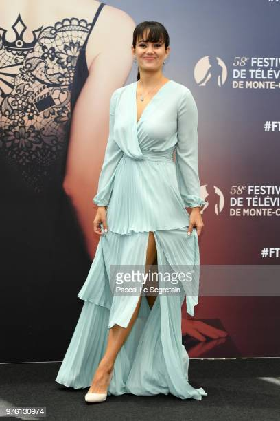 Dina Shihabi from the serie Tom Clancy's Jack Ryan attends a photocall during the 58th Monte Carlo TV Festival on June 16 2018 in MonteCarlo Monaco