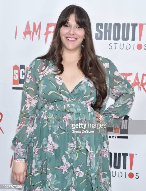 """Dina Silva attends the Los Angeles Premiere of Roxwell Films """"I Am Fear"""" at Laemmle Monica Film Center on February 20 2020 in Santa Monica California"""