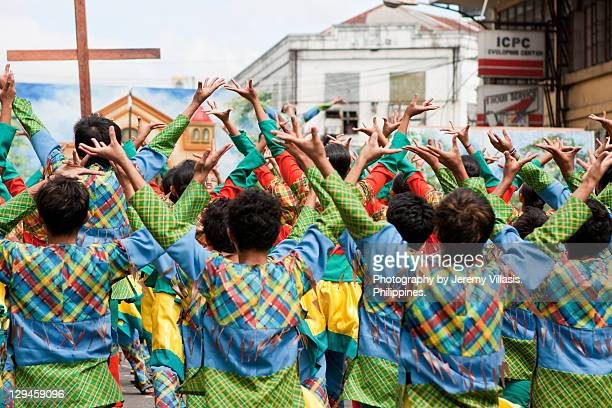 dinagyang - filipino culture stock pictures, royalty-free photos & images