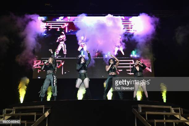 Dinah Jane Ally Brooke Normani Kordei and Lauren Jauregui of Fifth Harmony perform onstage during 1035 KTU's KTUphoria 2017 presented by ATT at...