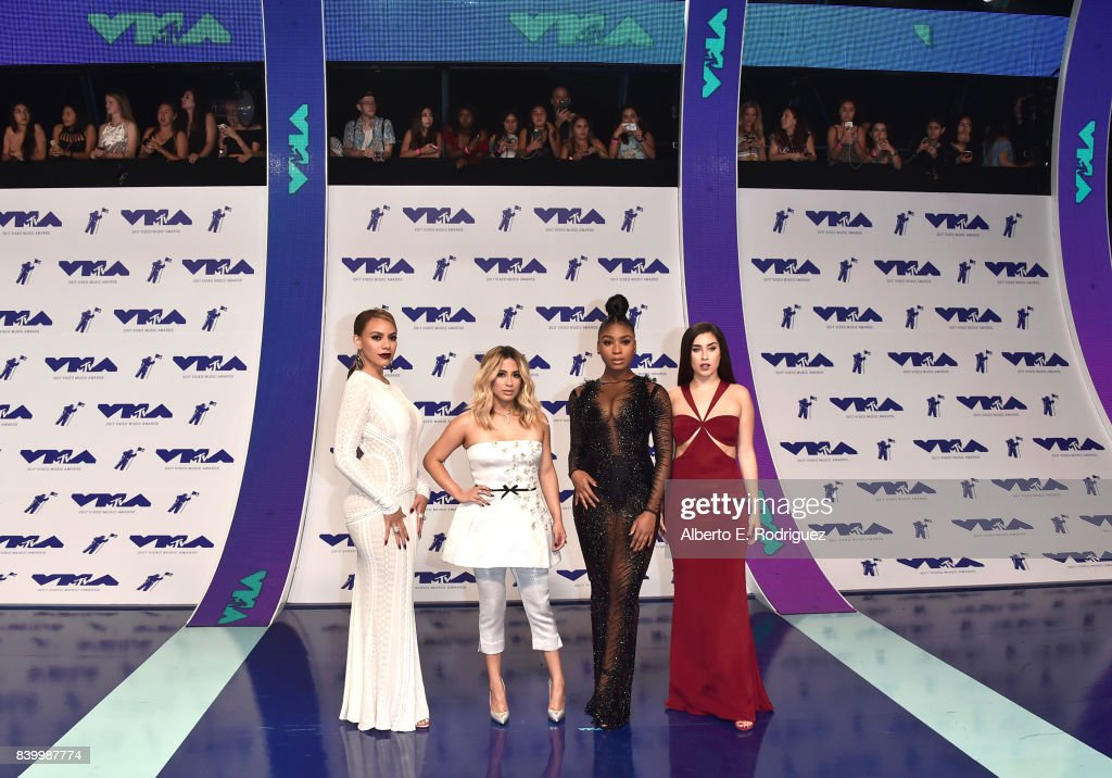 Dinah Jane, Ally Brooke, Normani Kordei and Lauren Jauregui of Fifth Harmony attends the 2017 MTV Video Music Awards at The Forum on August 27, 2017 in Inglewood, California.