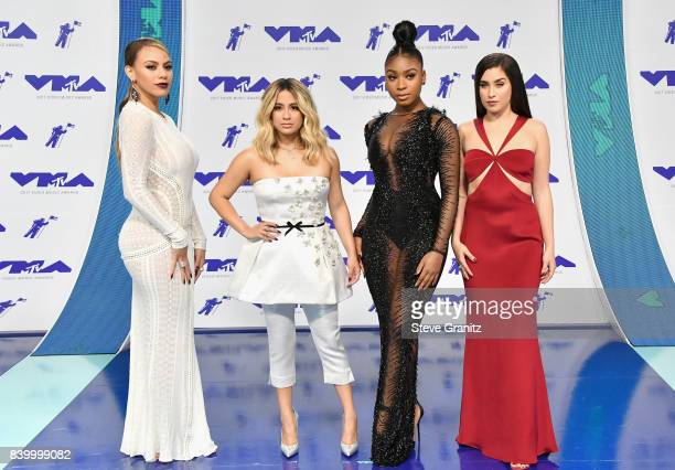 Dinah Jane Ally Brooke Normani Kordei and Lauren Jauregui of Fifth Harmony attend the 2017 MTV Video Music Awards at The Forum on August 27 2017 in...