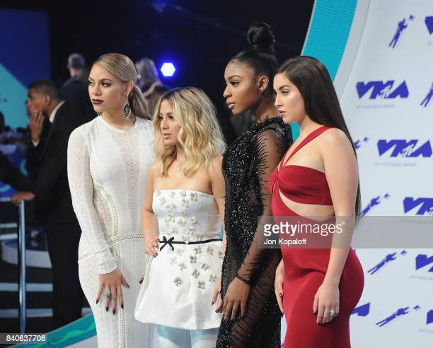 Dinah Jane Ally Brooke Normani Kordei and Lauren Jauregui of Fifth Harmony arrive at the 2017 MTV Video Music Awards at The Forum on August 27 2017...