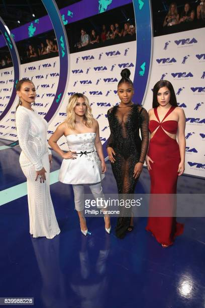 Dinah Jane Ally Brooke Normani Kordei and Lauren Jauregui of music group Fifth Harmony attend the 2017 MTV Video Music Awards at The Forum on August...