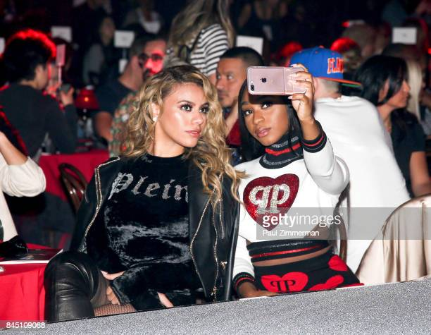 Dinah Jane and Normani Kordei of band Fifth Harmony attend the Philipp Plein fashion show during New York Fashion Week at Hammerstein Ballroom on...