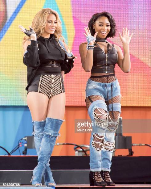 Dinah Jane and Normani Kordei of Fifth Harmony Perform on ABC's 'Good Morning America' at SummerStage at Rumsey Playfield Central Park on June 2 2017...