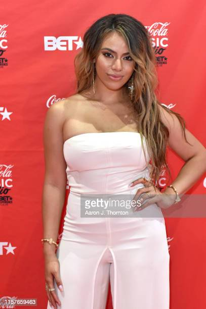 Dinah Jane appears at the CocaCola Music Stage during the BET Experience at Los Angeles Convention Center on June 22 2019 in Los Angeles California