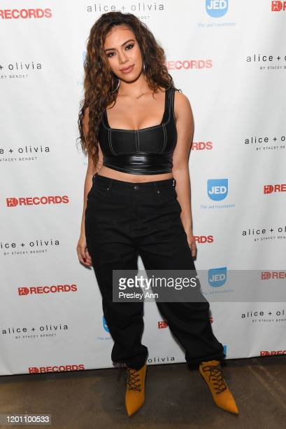 Dinah Jane attends a special night with Jenna Andrews The Jed Foundation and Alice Olivia at Alice Olivia Boutique on January 21 2020 in West...