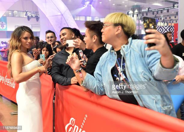Dinah Jane greets fans at the CocaCola Music Stage during the BET Experience at Los Angeles Convention Center on June 22 2019 in Los Angeles...