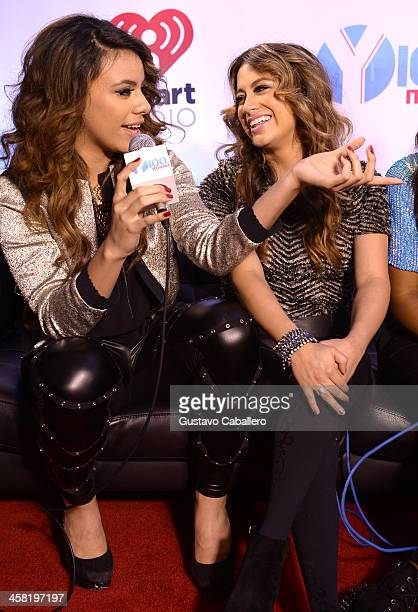 Dinah Jane Hansen and Ally Brooke of Fifth Harmony attend Y100's Jingle Ball 2013 Presented by Jam Audio Collection at BBT Center on December 20 2013...