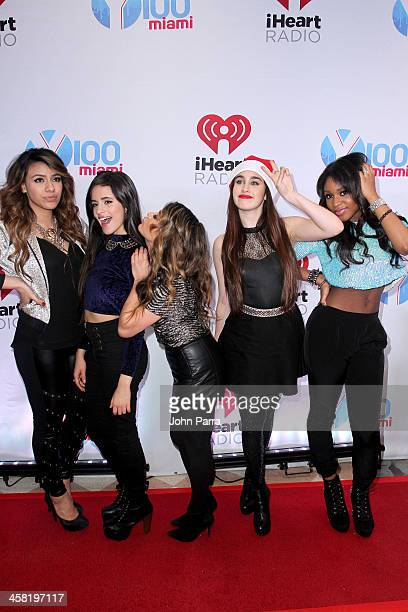 Dinah Jane Hansen Camila Cabello Ally Brooke Lauren Jauregui and Normani Kordei of Fifth Harmony attend Y100's PreShow at the Jingle Ball Village on...