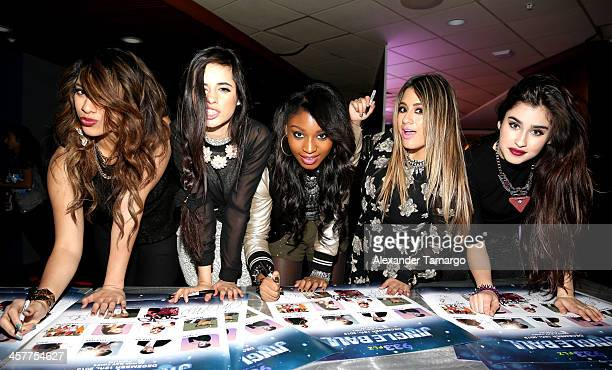 Dinah Jane Hansen Camila Cabello Normani Kordei Ally Brooke and Lauren Jauregui of Fifth Harmony attend 933 FLZ's Jingle Ball 2013 at the Tampa Bay...