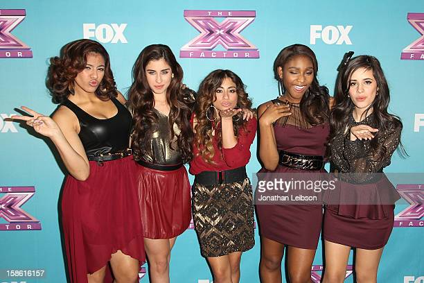 """Dinah Jane Hansen, Lauren Jauregui, Ally Brooke, Normani Hamilton and Camila Cabello of the group Fifth Harmony attend the FOX's """"The X Factor""""..."""
