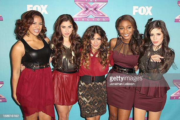 Dinah Jane Hansen Lauren Jauregui Ally Brooke Normani Hamilton and Camila Cabello of the group Fifth Harmony attend the FOX's 'The X Factor' Season...