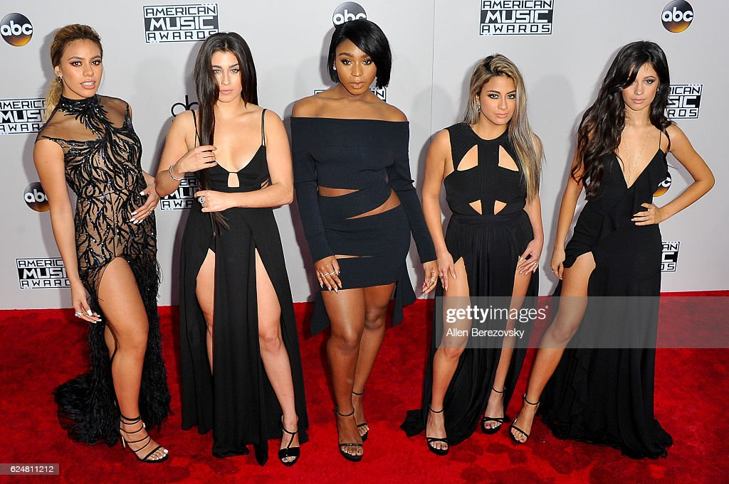Dinah Jane Hansen, Lauren Jauregui, Normani Hamilton, Ally Brooke, and Camila Cabello of Fifth Harmony attend at the 2016 American Music Awards at Microsoft Theater on November 20, 2016 in Los Angeles, California.