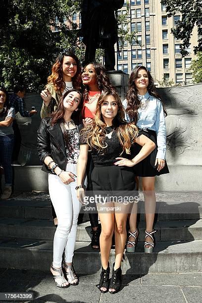 Dinah Jane Hansen Normani Hamilton Camila Cabello Lauren Jauregui and Ally Brooke Hernandez of Fifth Harmony visit Madison Square Park on August 5...