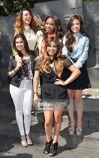 Dinah Jane Hansen Normani Hamilton Camila Cabello Lauren Jauregui and Ally Brooke Hernandez of Fifth Harmony visit Madison Square Park on August 5...