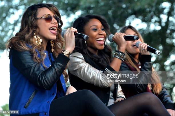 "Dinah Jane Hansen Normani Kordei and Ally Brooke of Fifth Harmony perform at 933 FLZ's Jingle Ball ""PreShow Free Show"" on the Plaza 933 FLZ's Jingle..."