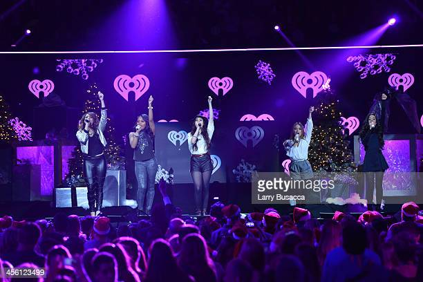Dinah Jane Hansen Normani Kordei Lauren Jauregui Ally Brooke and Camila Cabello of Fifth Harmony perform onstage during Z100's Jingle Ball 2013...