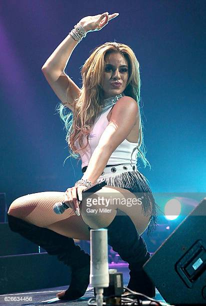 Dinah Jane Hansen of Fifth Harmony performs in concert during the 106.1 KISS FM's Jingle Ball 2016 Presented by Capital One at American Airlines...