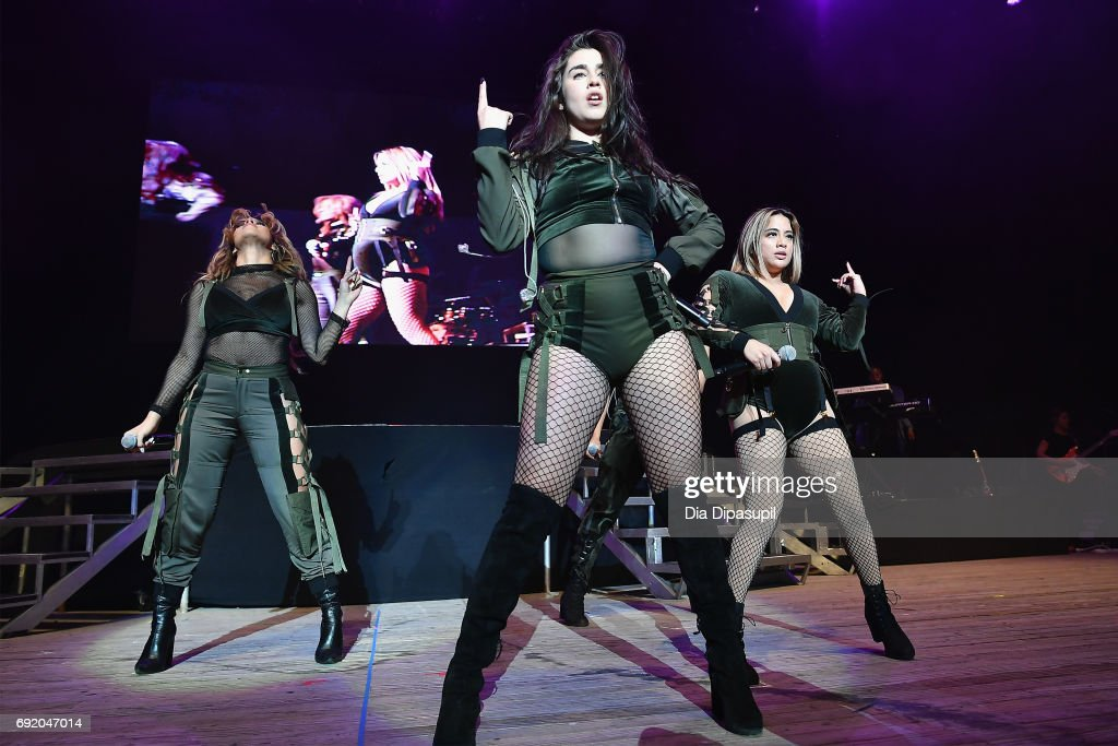 Dinah Jane, Lauren Jauregui, and Ally Brooke of Fifth Harmony perform onstage during 103.5 KTU's KTUphoria 2017 presented by AT&T at Northwell Health at Jones Beach Theater on June 3, 2017 in Wantagh, New York.