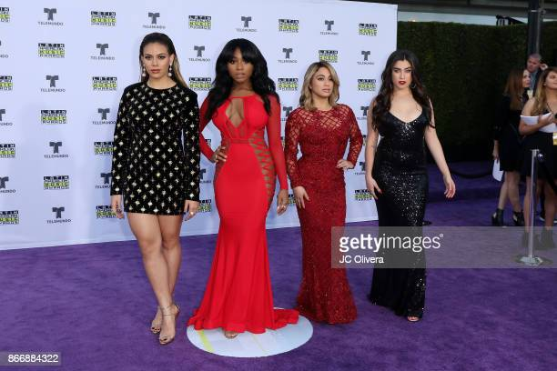 Dinah Jane Normani Kordei Ally Brooke and Lauren Jauregui of Fifth Harmony attend The 2017 Latin American Music Awards at Dolby Theatre on October 26...