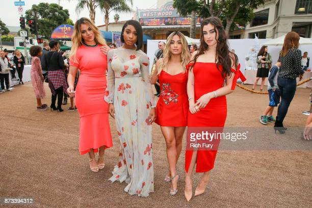 Dinah Jane Normani Kordei Ally Brooke and Lauren Jauregui of Fifth Harmony attend the premiere of Columbia Pictures' 'The Star' at Regency Village...
