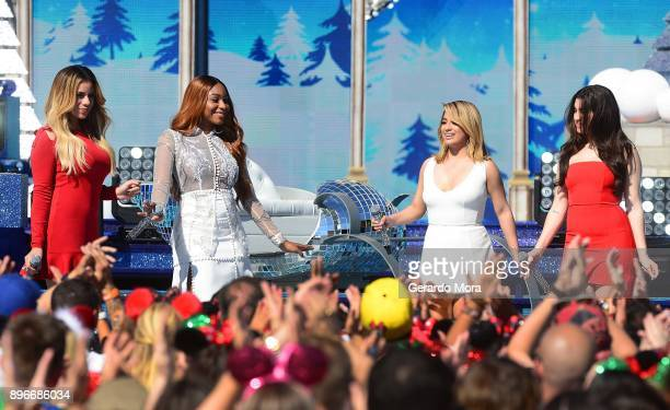 Dinah Jane Normani Kordei Ally Brooke and Lauren Jauregui of Fifth Harmony perform during the taping of 'Disney Parks Magical Christmas Celebration'...