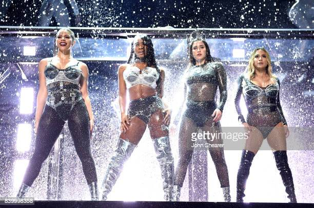 Dinah Jane Normani Kordei Lauren Jauregui and Ally Brooke of Fifth Harmony perform onstage during the 2017 MTV Video Music Awards at The Forum on...