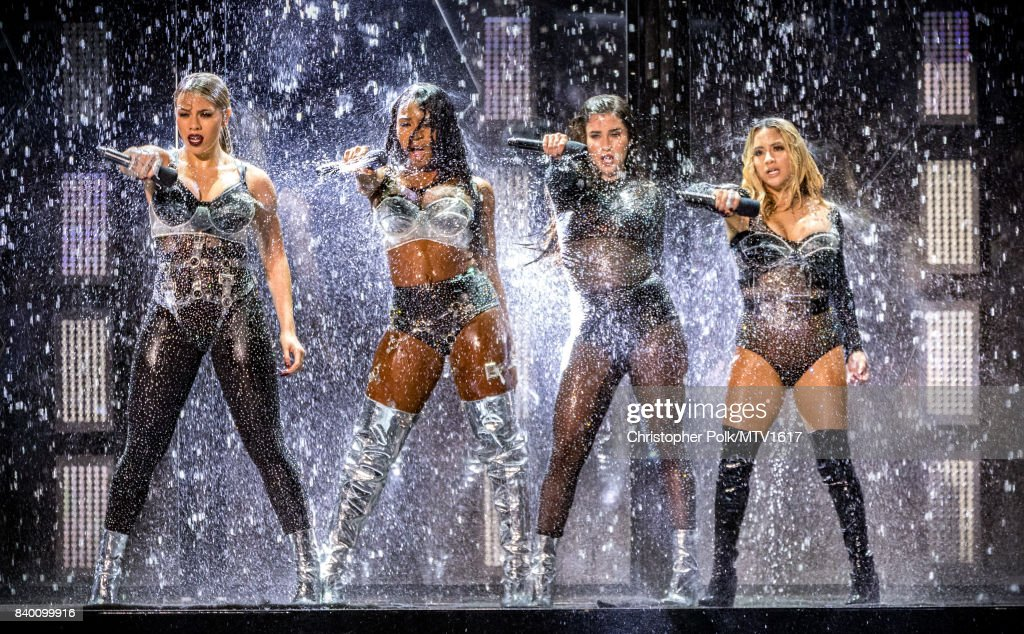Dinah Jane, Normani Kordei, Lauren Jauregui, and Ally Brooke of music group Fifth Harmony perform onstage during the 2017 MTV Video Music Awards at The Forum on August 27, 2017 in Inglewood, California.