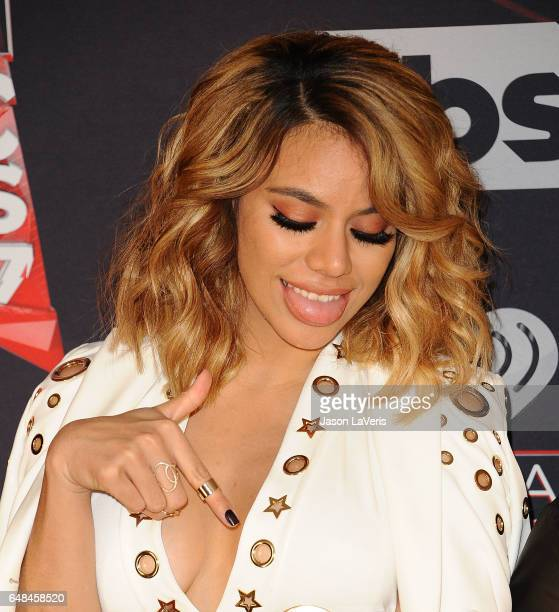 Dinah Jane of Fifth Harmony poses in the press room at the 2017 iHeartRadio Music Awards at The Forum on March 5 2017 in Inglewood California