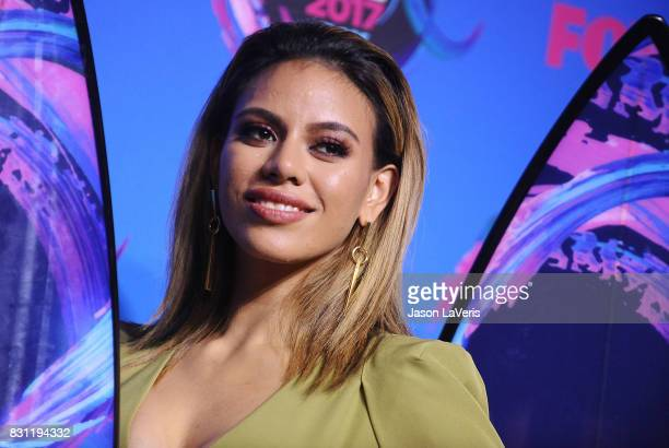 Dinah Jane of Fifth Harmony poses in the press room at the 2017 Teen Choice Awards at Galen Center on August 13 2017 in Los Angeles California