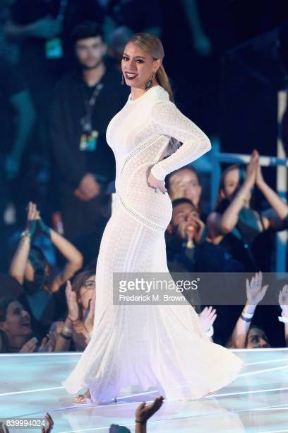Dinah Jane of music group Fifth Harmony walks onstage during the 2017 MTV Video Music Awards at The Forum on August 27 2017 in Inglewood California