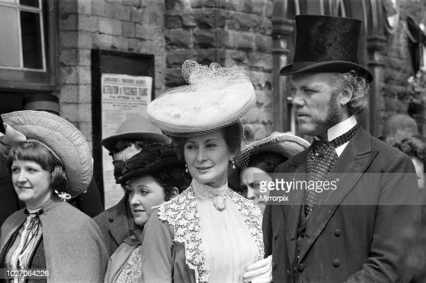 Dinah Sheridan on the set of 'The Railway Children' at Oakworth West Yorkshire 20th May 1970