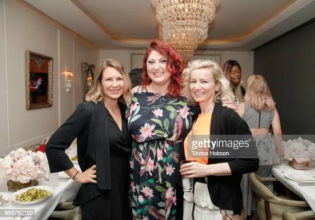 Dinah Stevens Joy Nash and Claire Coghlan attend an intimate luncheon with Joy Nash Marti Noxon and Aisha Tyler hosted by AMC in Celebration of Their...