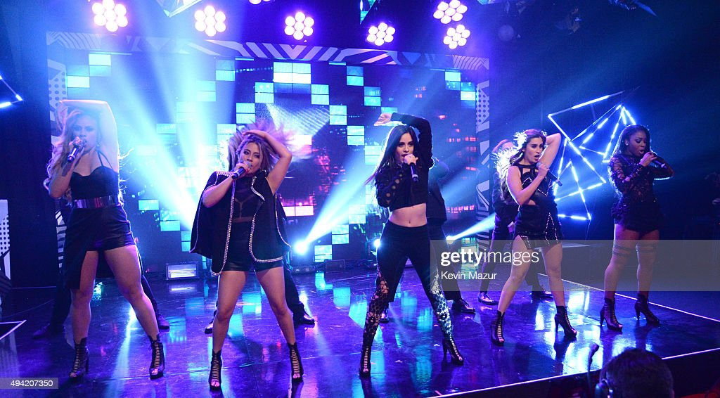 Dinah-Jane Hansen, Ally Brooke, Camila Cabello, Lauren Jauregui and Normani Kordei of Fifth Harmony perform at the MTV EMA's 2015 at Mediolanum Forum on October 25, 2015 in Milan, Italy.