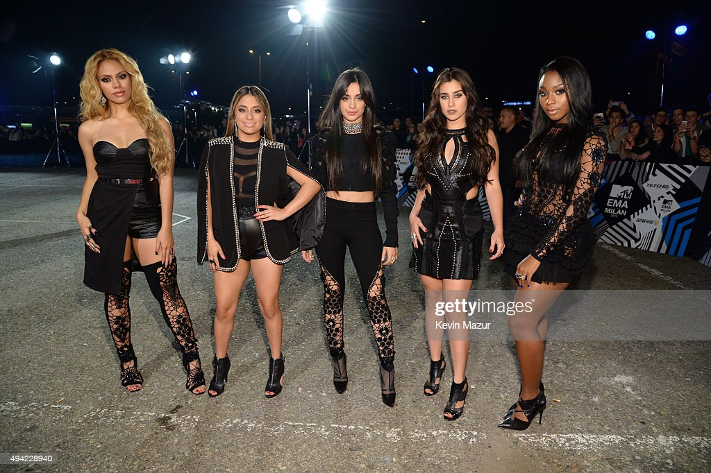 Dinah-Jane Hansen, Ally Brooke, Camila Cabello, Lauren Jauregui and Normani Kordei of Fifth Harmony attend the MTV EMA's 2015 at Mediolanum Forum on October 25, 2015 in Milan, Italy.