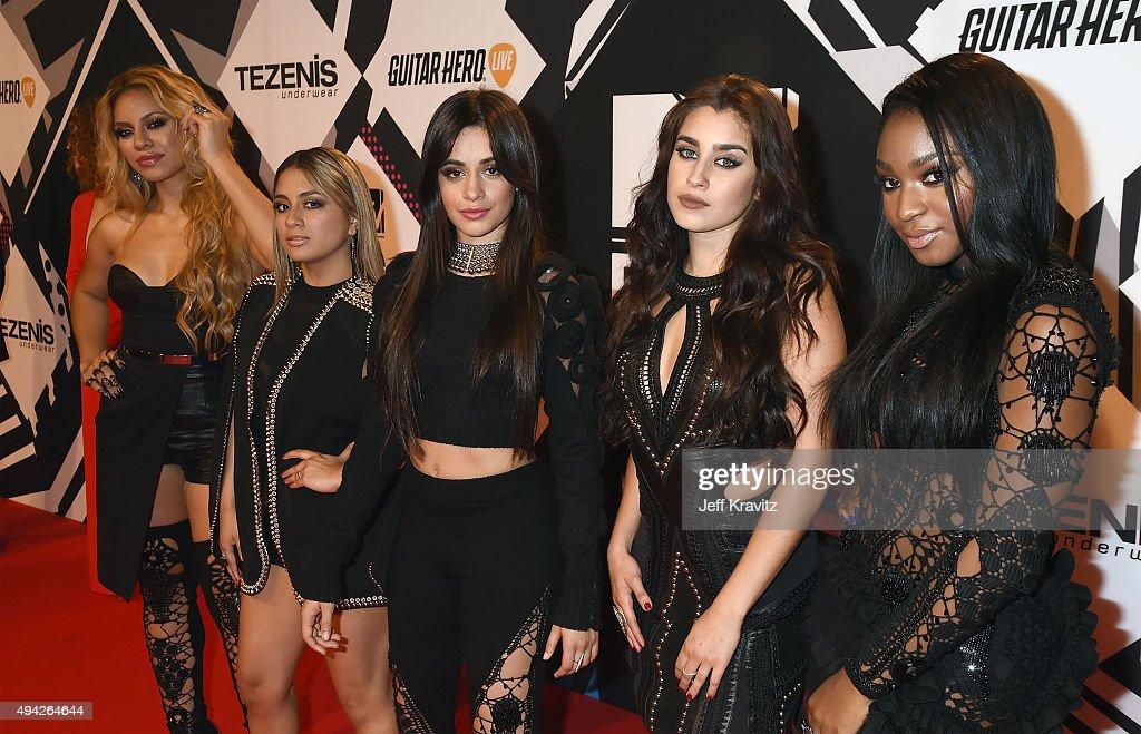 Dinah-Jane Hansen, Ally Brooke, Camila Cabello, Lauren Jauregui and Normani Kordei of Fifth Harmony attend the MTV EMA's 2015 at Mediolanum Forum on October 25, 2015 in Milan, Italy.