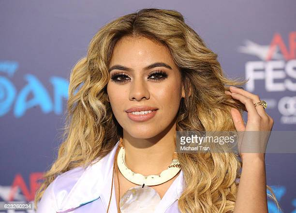 DinahJane Hansen arrives at the AFI FEST 2016 presented by Audi world premiere of Disney's 'Moana' held at the El Capitan Theatre on November 14 2016...