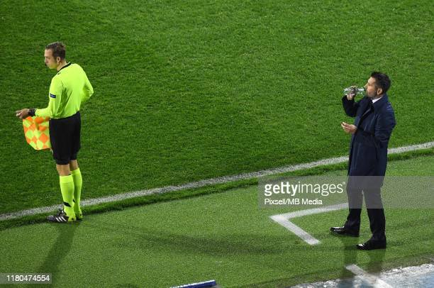 Dinamo Zagreb team manager Nenad Bjelica during the UEFA Champions League group C match between Dinamo Zagreb and Shakhtar Donetsk at Maksimir...