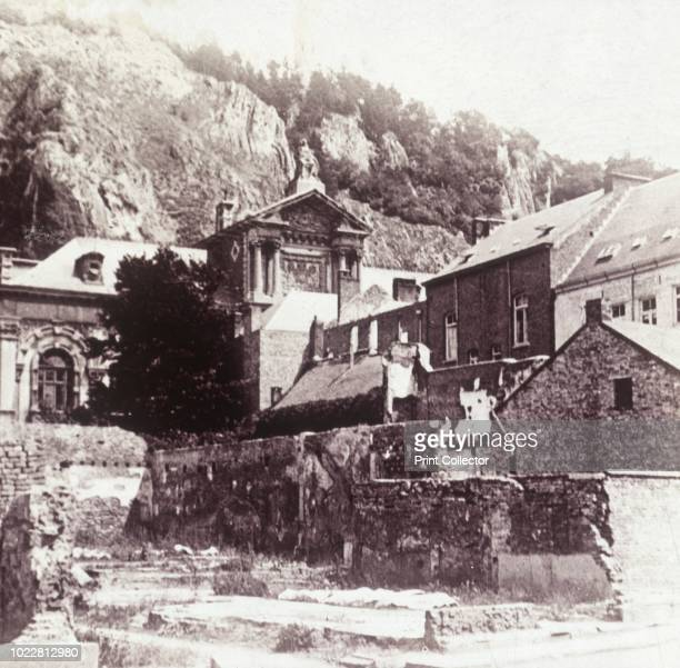 Dinant Belgium 1914 Site of the murder of civilians shot by the Germans 166 inhabitants of Dinant were shot on 23 August 1914 Photograph from a...