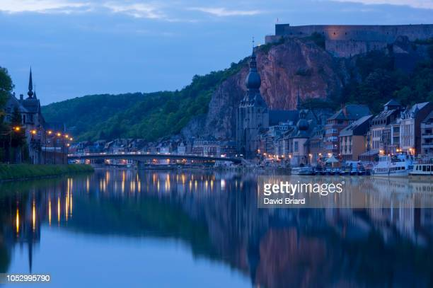 dinant - meuse river stock photos and pictures