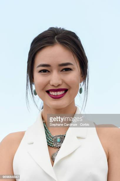 Dinara Baktybayeva attends 'The Gentle Indifference Of The Word' Photocall during the 71st annual Cannes Film Festival at Palais des Festivals on May...