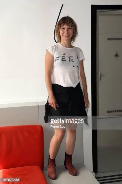 Dinara Droukarova attend the Agnes B Menswear Spring/Summer 2019 show as part of Paris Fashion Week on June 24 2018 in Paris France