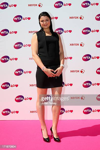 Dinara Safina arrives for the WTA 40 Love Celebration during Middle Sunday of the Wimbledon Lawn Tennis Championships at the All England Lawn Tennis...