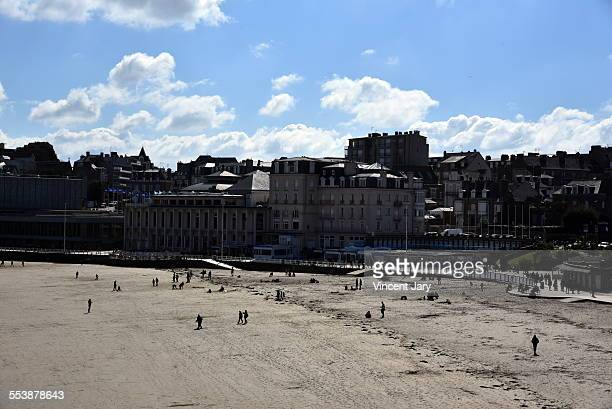 dinard beach - atlantic coast conference stock pictures, royalty-free photos & images